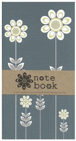 tall flowers, notebook