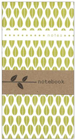 leaves pattern, notebook