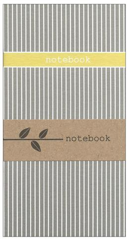 pinstripes, notebook