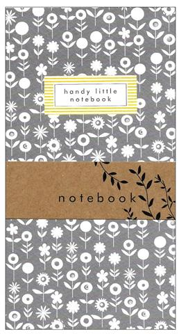 grey flowers, notebook