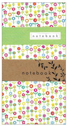 flower garden, notebook