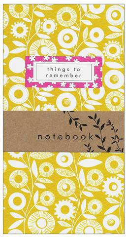 mustard pattern, notebook