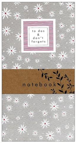 grey daisies, notebook