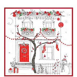 advent calendar card, house