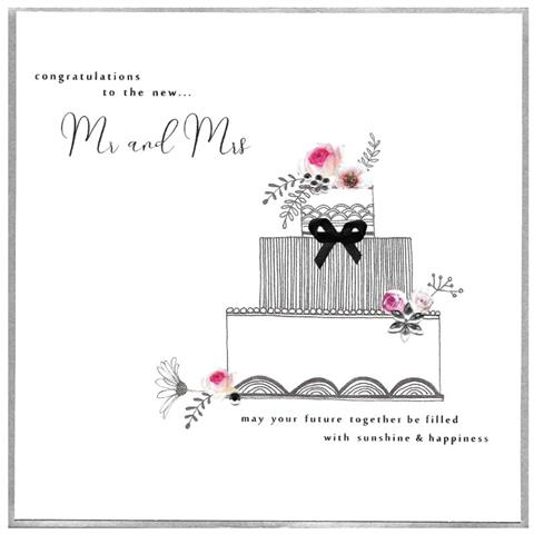 to the new mr & mrs, extra large card