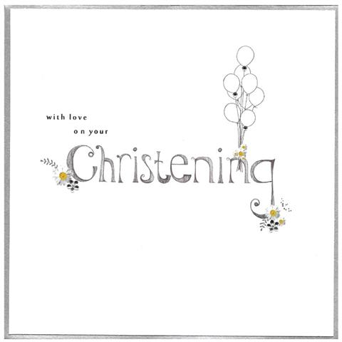 on your christening, extra large card