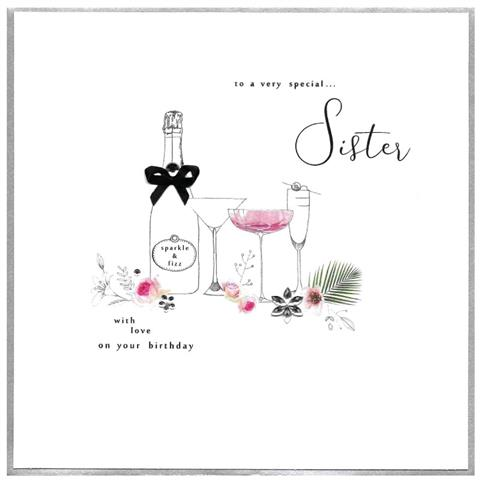 to a very special sister, extra large card